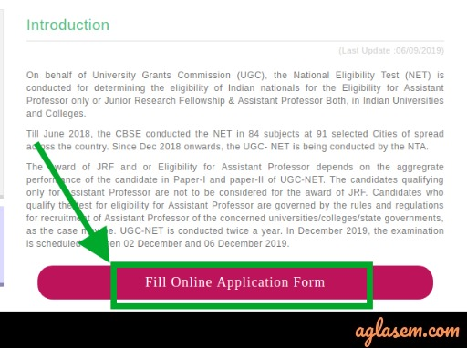 UGC NET Application Form UGC NET Application Form 2020 (Over): Application Correction Window Re-opened, Edit Details Here @ugcnet.nta.nic.in