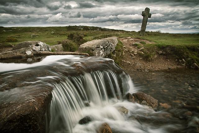 Windy post granite cross