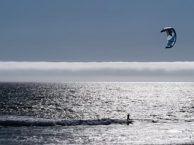 Kite Surfing the Fog