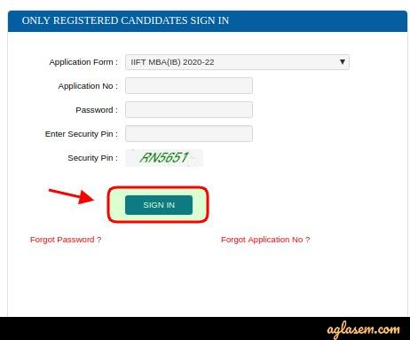 iift 2020 login for application form