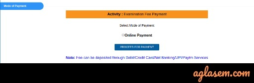 UGC NET Application Fee Payment