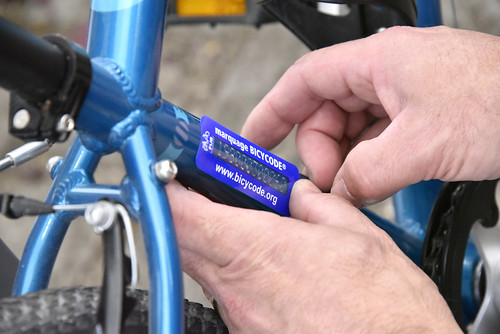 Marquage vélos Bicycode® par Véloxygène - Amiens
