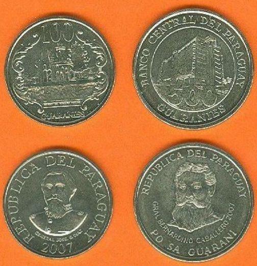 Paraguay 100-500 Guaranies 2007
