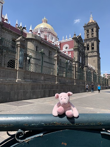 Puebla Cathedral with Dave