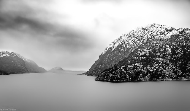 Foggy water passage between Islands of Skorpa and Losna, Norway-39a