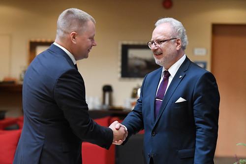 Valsts prezidenta Egila Levita tikšanās ar ārvalstu tirdzniecības kameru Latvijā pārstāvjiem