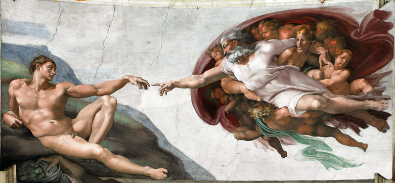 A criação do homem de Michelangelo