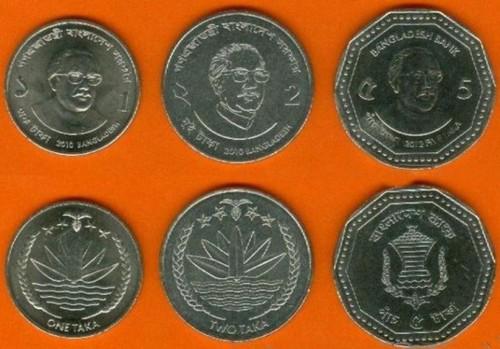Bangladesh-1-2-5 Taka 2010-2012