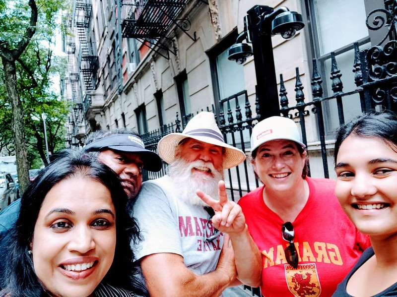 The Fam- Lasi, Prakash, James, Dena and Moumi. Manhattan,  New York City summer 2019