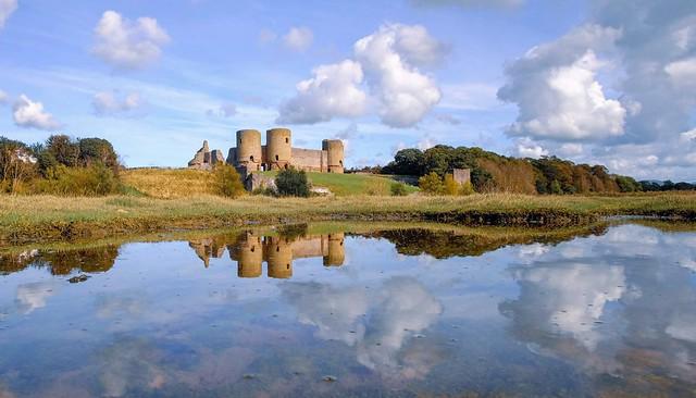 Reflecting on Rhuddlan Castle ... North Wales