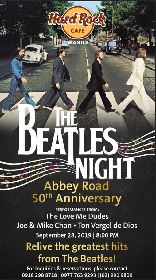 Beatles Abbey Road 50 years Hard Rock Cafe