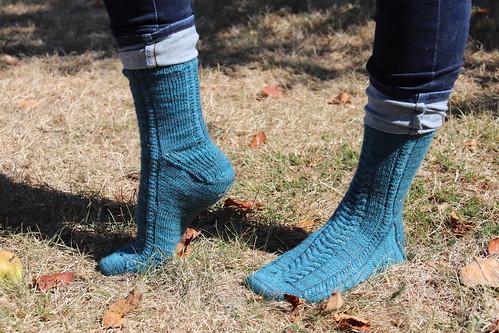 Les chaussettes Twist & Shine