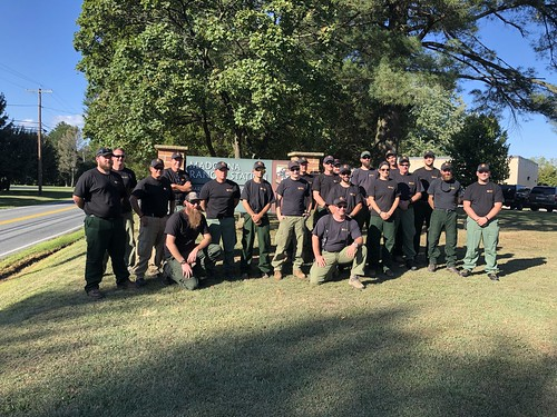 Photo of wildlands firefighting crew at Madonna Ranger Station