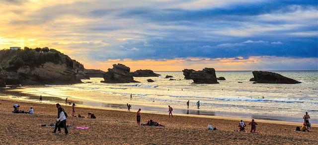 Biarritz. La puesta de sol.
