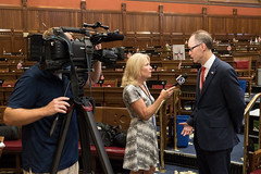 Rep. O'Neill discusses Risk Warrant legislation with WFSB Capitol Bureau Chief Susan Raff.