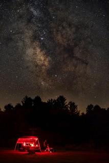 The Dark House Nebula over star gazers at John Glenn Astronomy Park.  Follow me on Instagram @arthurgphotography.  New website updated in Bio!