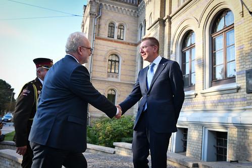 Valsts prezidents Egils Levits piedalās ārlietu dienesta simtgades svinībās