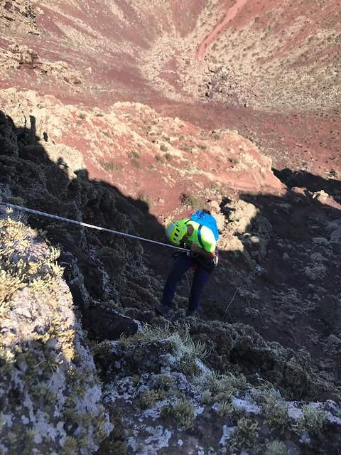 Rescate de cinco turistas en el Volcán de la Corona 09-09-19