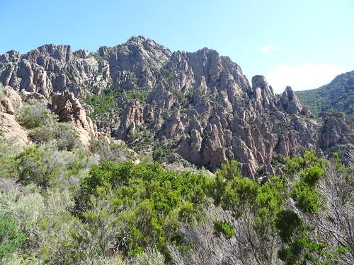 Punta di Monte Sordu depuis le col 750