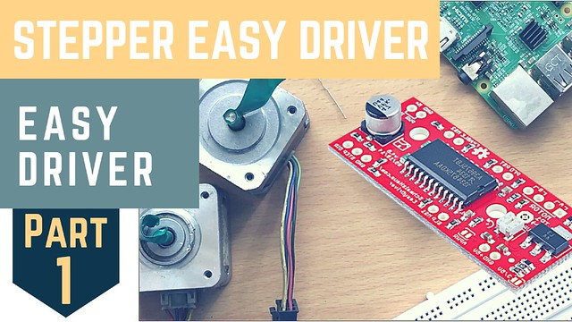 Control stepper motor with mobile | RaspberryPi | EasyDriver