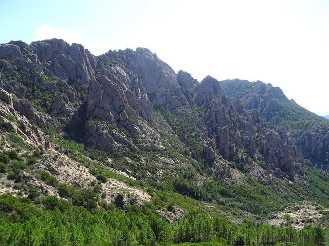 Punta di Monte Sordu depuis la RD du Haut-Peralzone