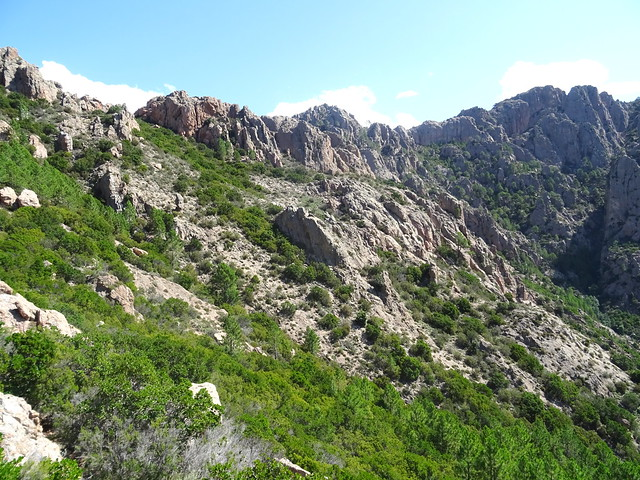 Le versant à droite de Bocca di Monte Bracciutu