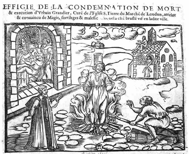 L'Execution d'Urbain Grandier, 1634