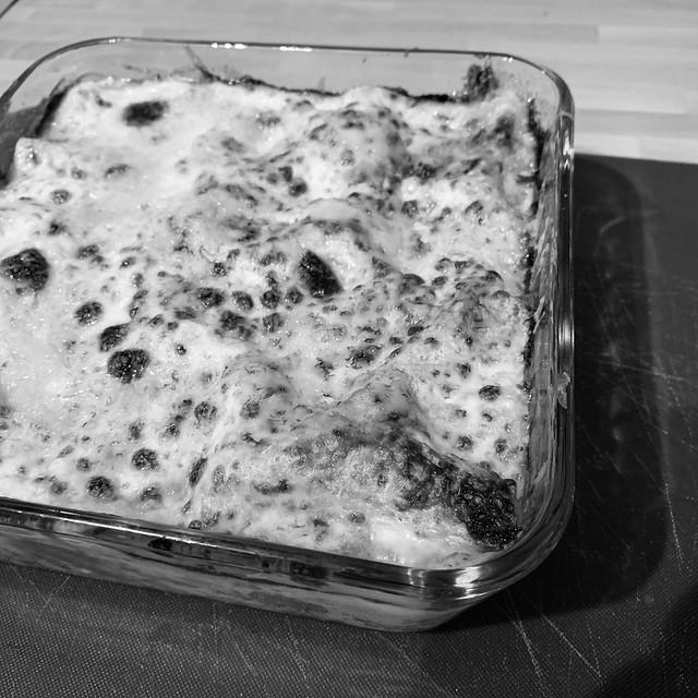 I made lasagne