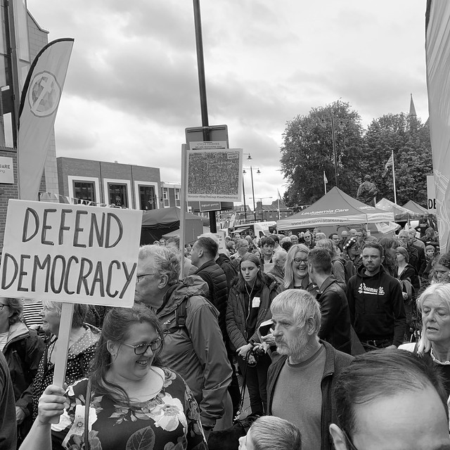 Stop the Coup demonstration in Worcester