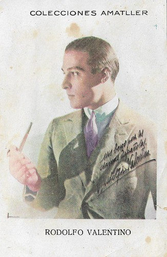 Colecciones Amatller, Rudolph Valentino