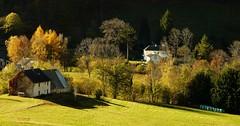 Sainte-Marie-de-Campan (Hautes-Pyrénées, Fr) – Scène d'automne.