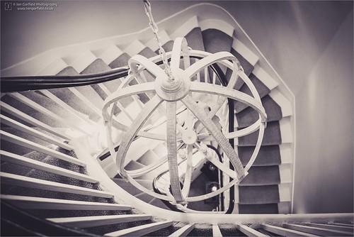 wedding lines sepia stairs landing leading eyes shrewsbury darwin town house banister abstract mono ian garfield photography steps