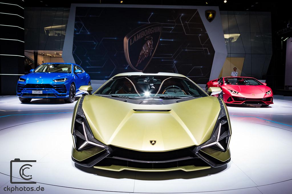 Lamborghini Sian, Urus, Huracan Evo Spyder @ IAA Frankfurt 2019