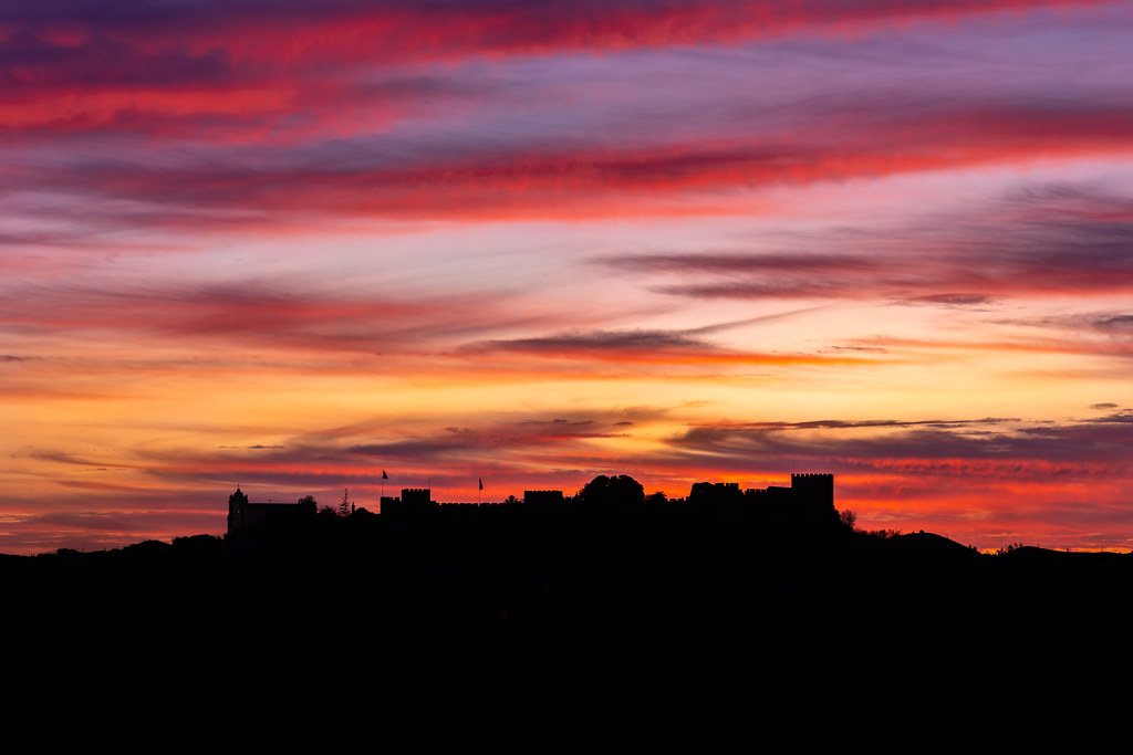 Sunset Over Castelo De Silves