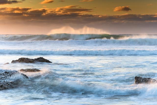 Turbulent Seas at Malua Bay - Sunrise Seascape