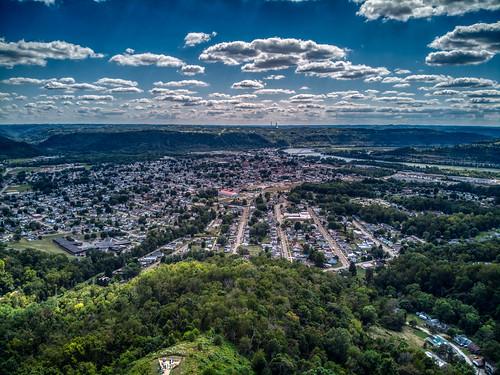 moundsville westvirginia unitedstatesofamerica aerial drone landscape