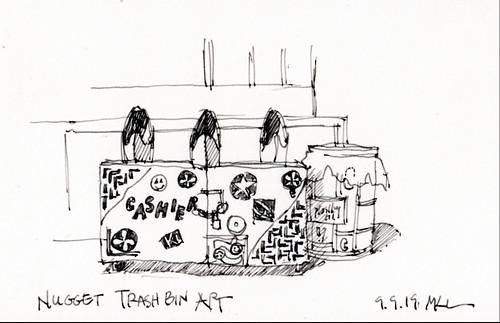 Nugget Trash Bins Art
