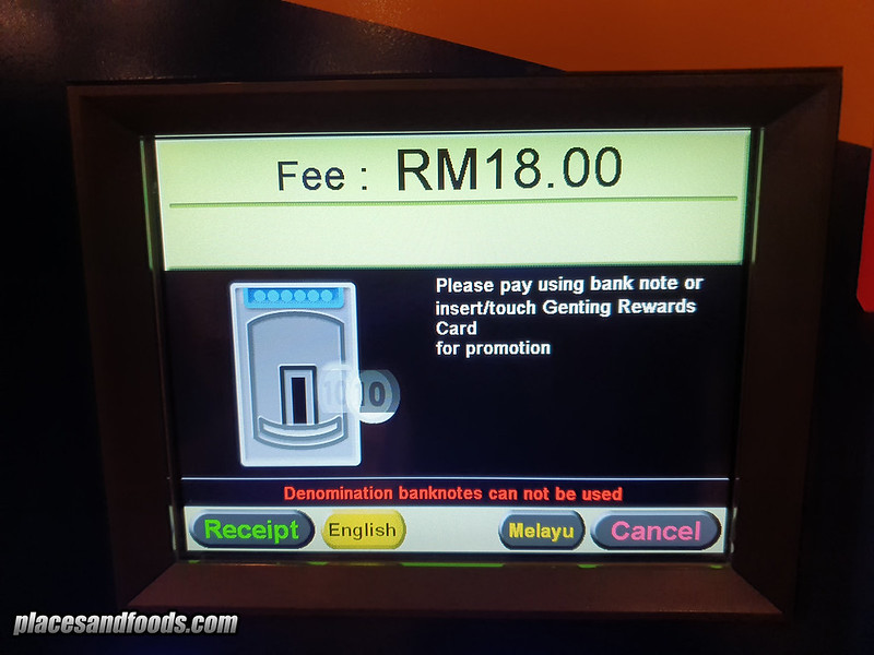 genting highlands 2019 parking rates malaysia