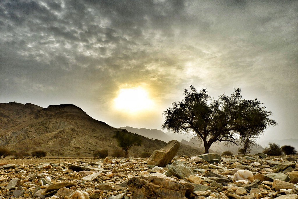 """""""The sky and the sun are always there. It's the clouds that come and go."""" ― Rachel Joyce  Al Amerat Countryside, Muscat, Sultanate of Oman"""