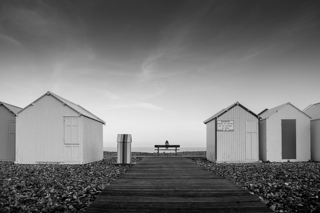 The boardwalk of Cayeux sur mer