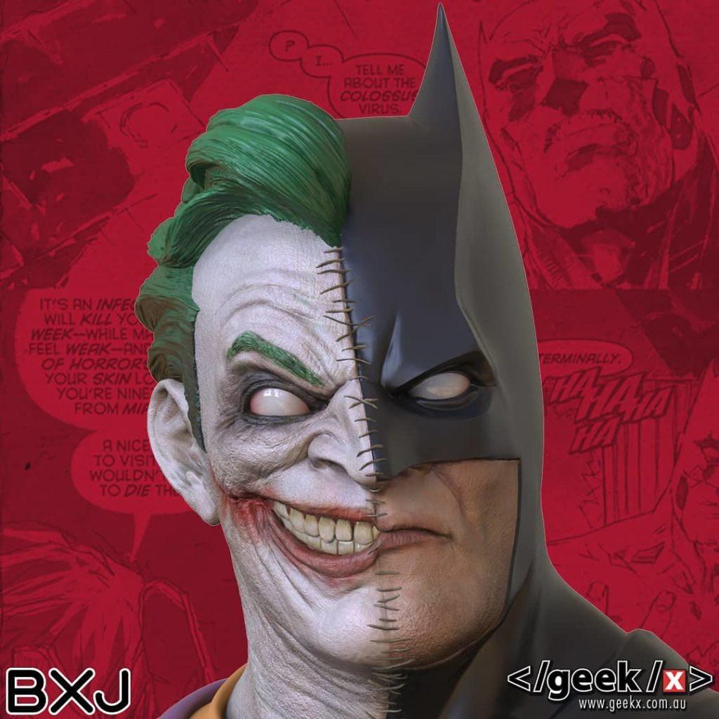 「高譚的黑暗騎士/瘋狂的犯罪王子」 Geek X DC comics【蝙蝠俠/小丑】Batman/Joker BXJ 1/2 比例半身胸像
