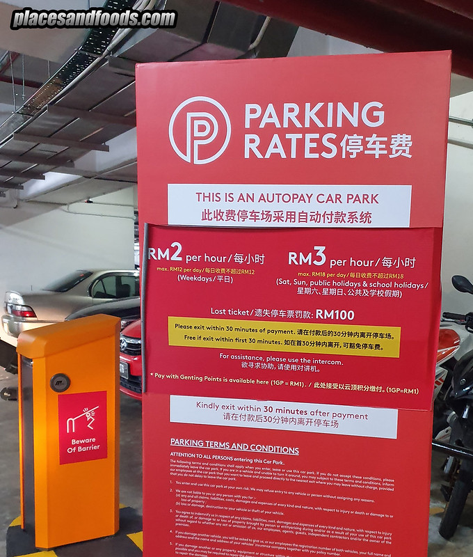 genting highlands 2019 parking rates