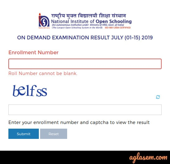 NIOS 12th Revaluation/ Rechecking 2019 Result