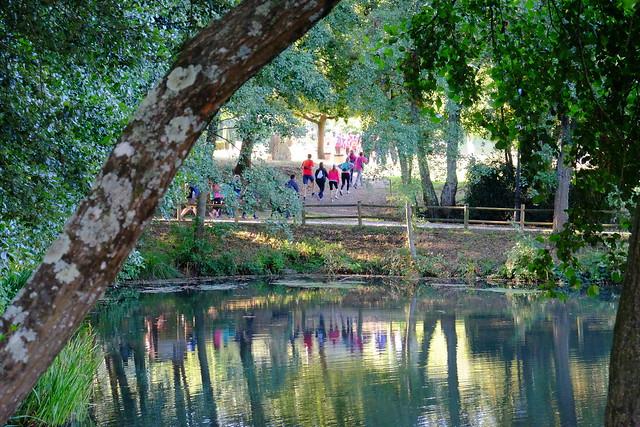 imaxe parque Lalín, ao pouco de iniciar a andaina