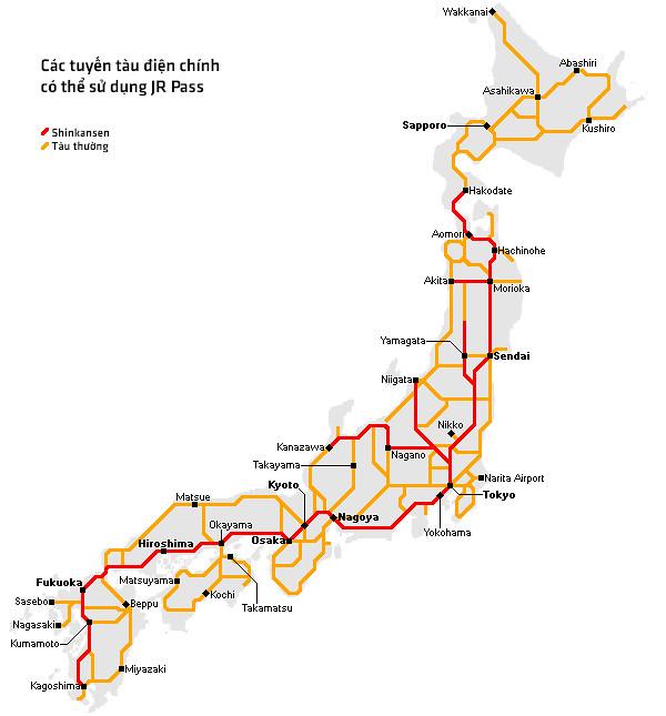 JR-pass map