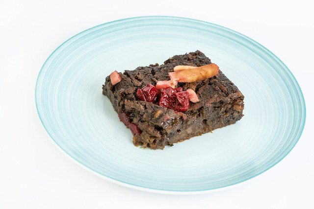 Delicious healthy Apple Cake with Cherries