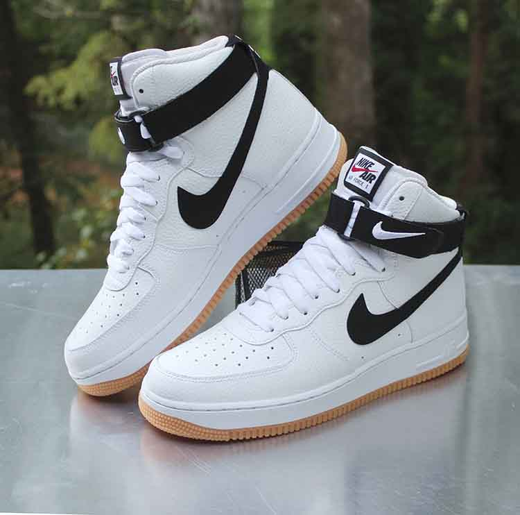 Nike Air Force 1 High 07 Men S Size 9 5 White Black Gum Sole At7653 100 A Photo On Flickriver
