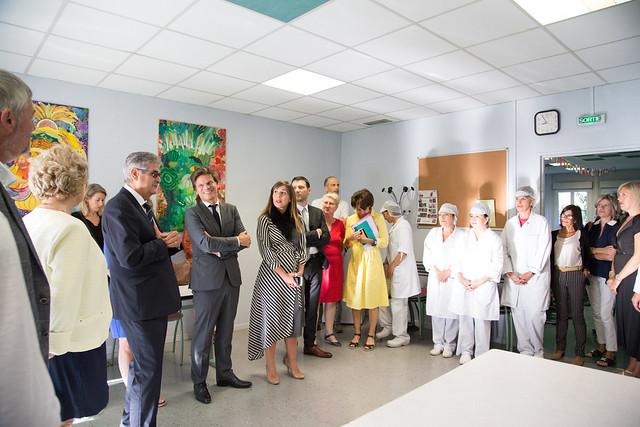 Visite de rentrée, Collège Léon Blum de Colomiers, 3 septembre 2019