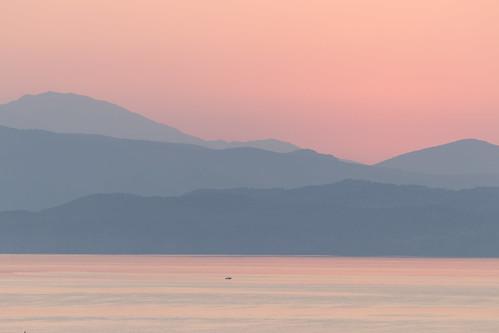 corfu sun ipsos greece dassia katokorakiana sunrise ionianislands albania horizon