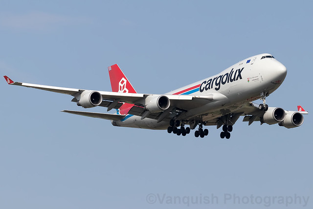 LX-MCL Cargolux B747-400 Amsterdam Airport